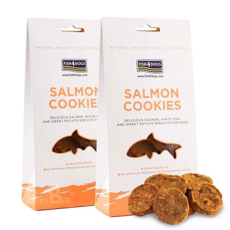 海洋之星FISH4DOGS 全天然健康點心 鮭魚餅乾(75g*2入)