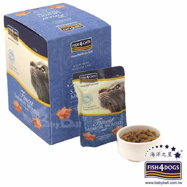 海洋之星FISH4CATS 海藻精華鮭魚慕斯-貓用 / 1盒裝(100g**6入)