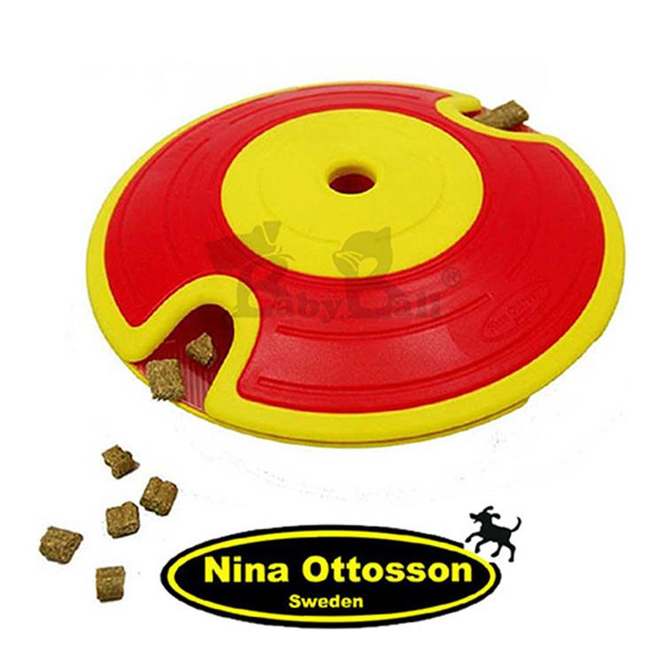 瑞典Nina Ottosson 寵物益智玩具 狗狗迷宮飛盤(小型) 紅黃