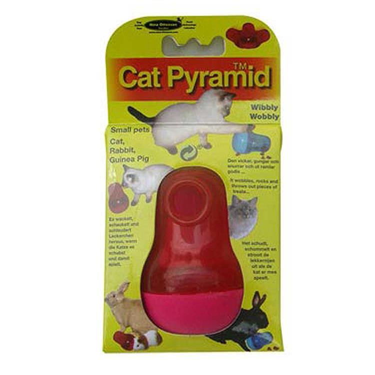 瑞典Nina Ottosson 寵物益智玩具 CatPyramid貓貓不倒翁 紅色