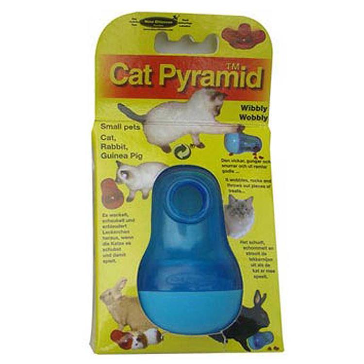 瑞典Nina Ottosson 寵物益智玩具 CatPyramid貓貓不倒翁/藍色