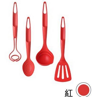 【韓國 Nineware】烹飪達人炒具組 Kitchen Utensil 湯匙 湯勺 量匙-紅色