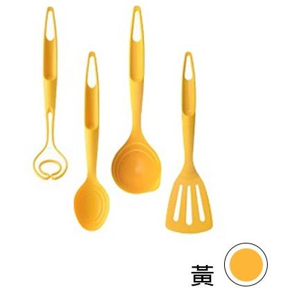 【韓國 Nineware】烹飪達人炒具組 Kitchen Utensil 湯匙 湯勺 量匙- 黃色