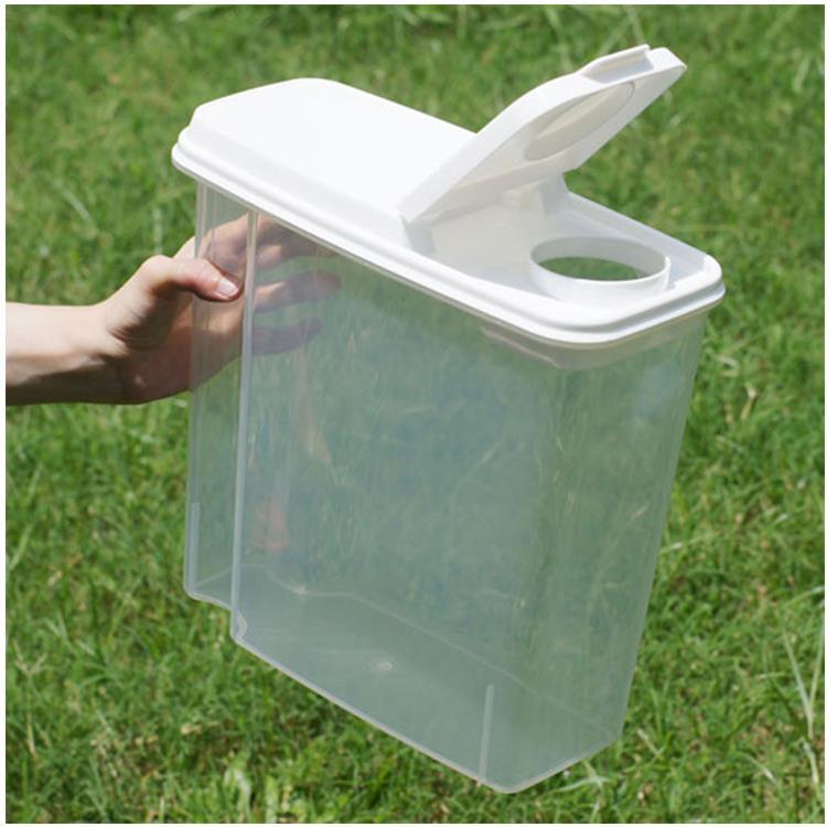 寵物飼料零食透明儲存桶