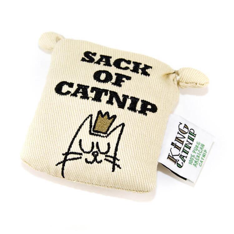 King Catnip北美天然有機貓草 貓草玩具 貓皇金枕頭8.5cm 34g