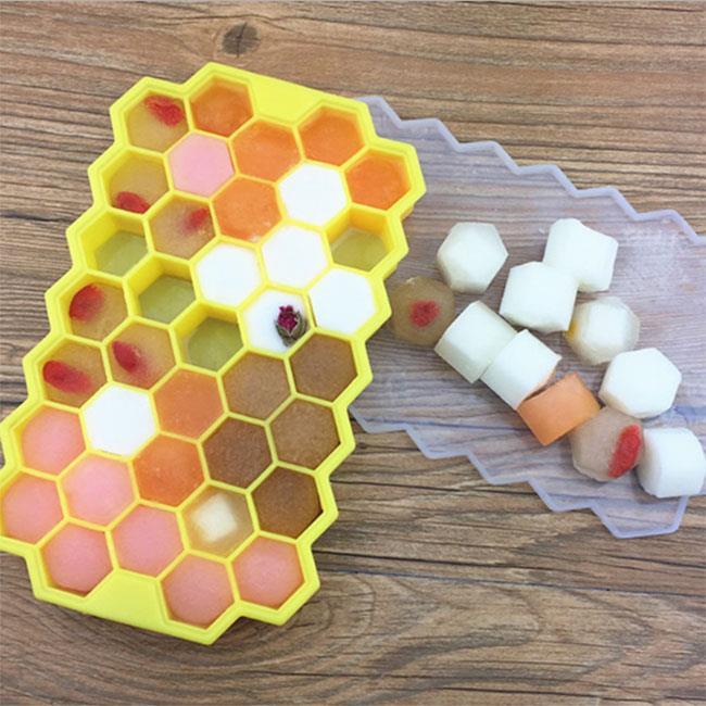 Buy Asia 矽膠蜂窩製冰盒37格(付蓋子) 2入 顏色隨機