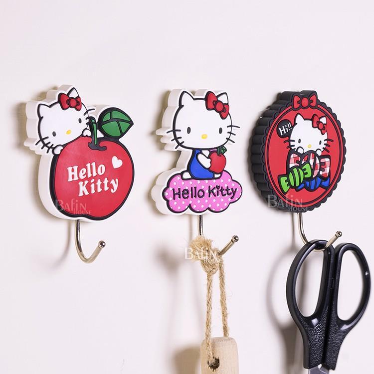 【Hello Kitty】背膠式 造型掛勾3入組(糖果+蘋果+雲朵)