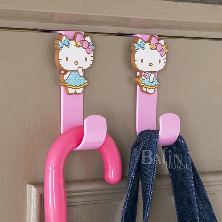 【Hello Kitty】背膠式 頭型掛勾4入組( 頭形粉+頭形紅+愛心粉+愛心紅)