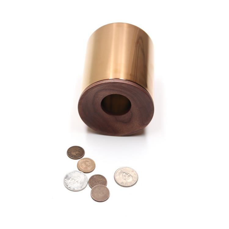 木入三分。木合金零錢筒