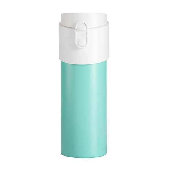 【PO:Selected】丹麥掀蓋12oz保溫泡茶杯(土耳其藍-白蓋)