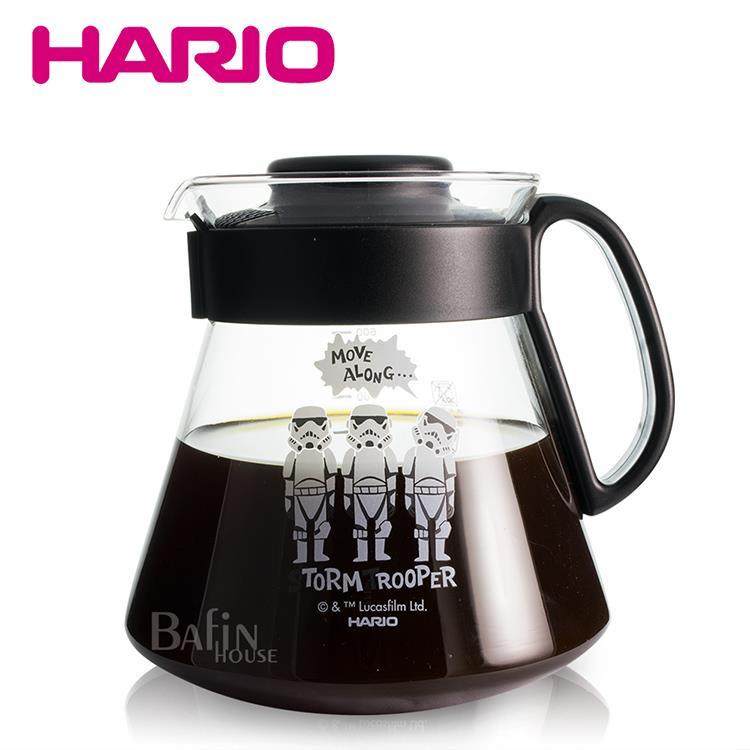 【HARIO】星際大戰帝國風暴兵 玻璃咖啡壺600ml(XVD-60B-SW-ST)
