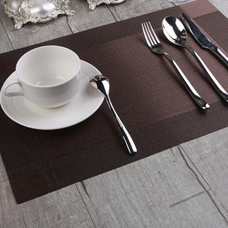 歐式編織風格PVC隔熱餐墊(兩色一組)