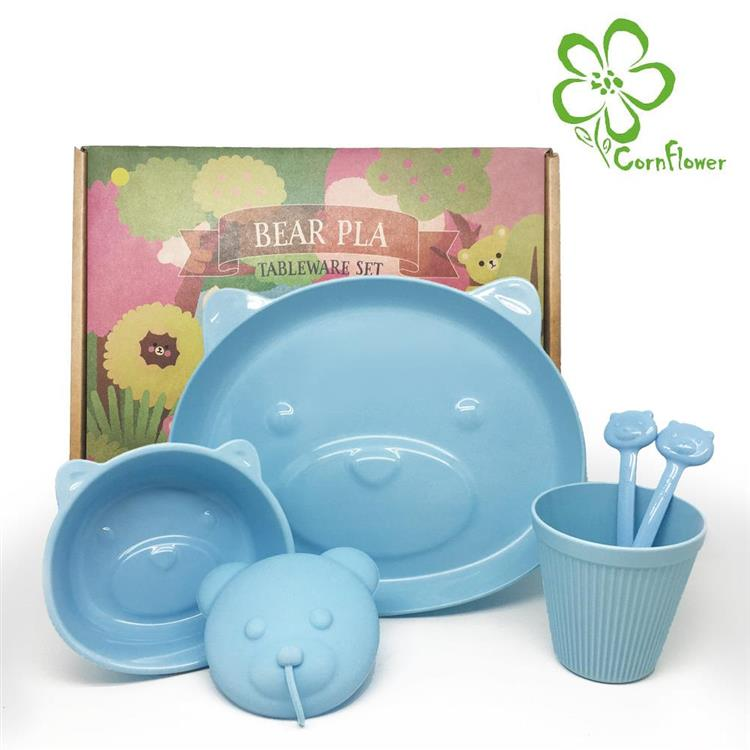 【Cornflower】熊熊餐具禮盒5入組