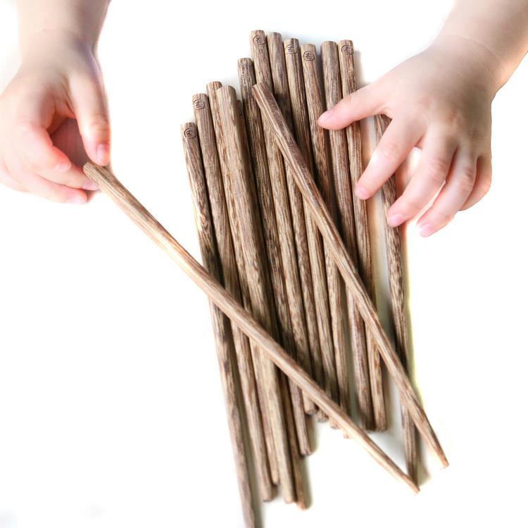 木入三分。兒童筷 雞翅木筷(6雙入)