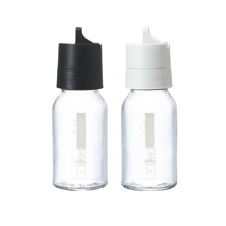 HARIO 玻璃調味罐120ML(黑/白 顏色隨機) HAR-ODB-120