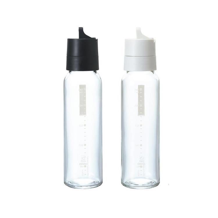HARIO 玻璃調味罐240ML(黑/白 顏色隨機) HAR-ODB-240