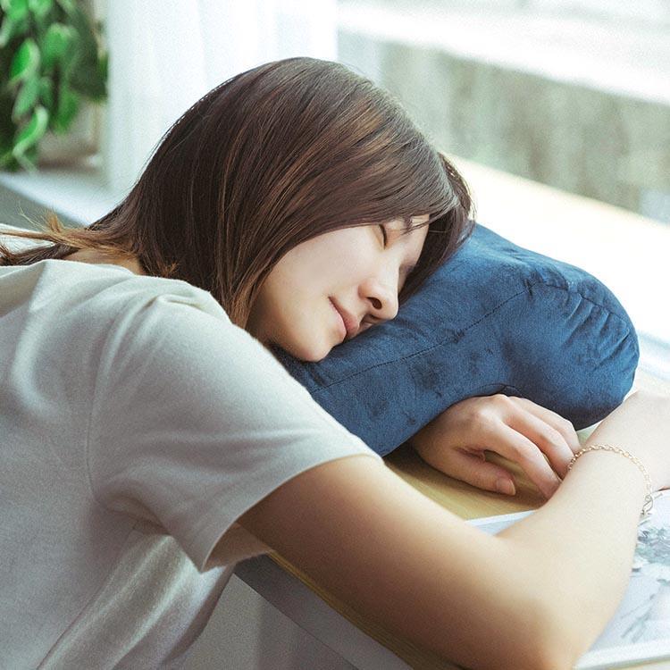 樂嫚妮 午安趴睡頸枕-寶藍