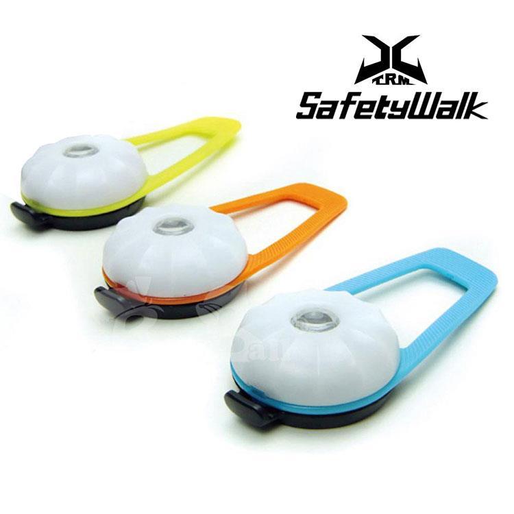 USB充電式寵物夜間安全智能LED警示燈-橘色