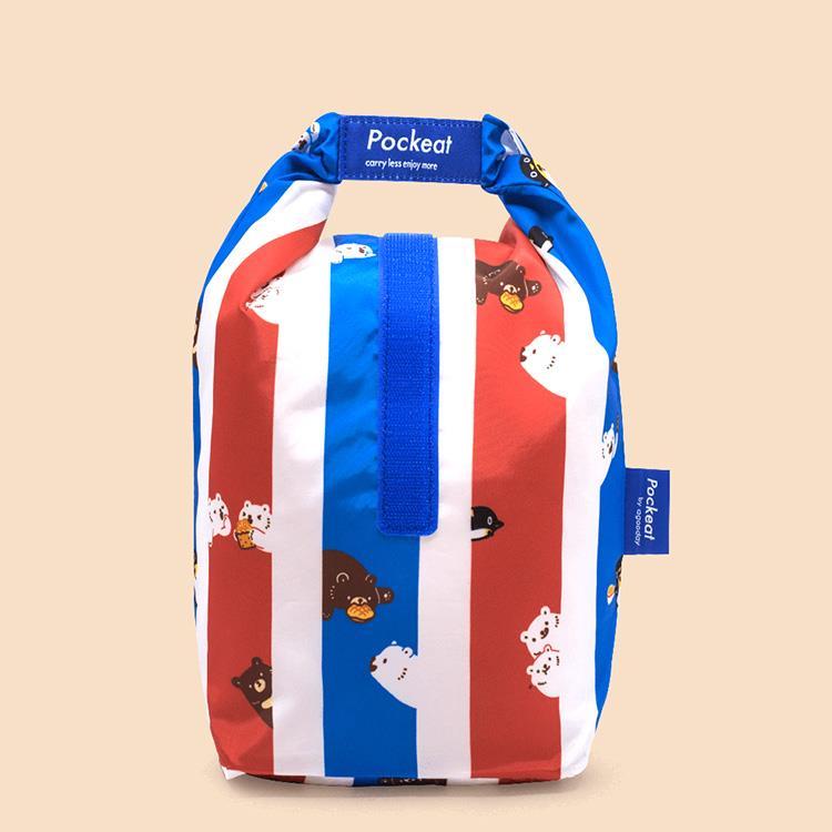 好日子 | Pockeat環保食物袋(大食袋) 白白紅白藍