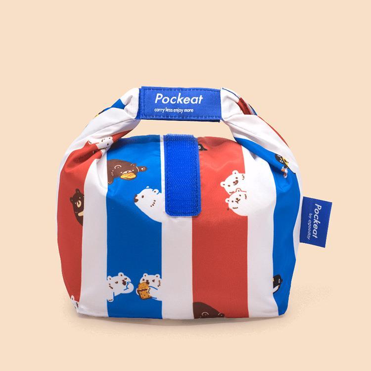 好日子 | Pockeat環保食物袋(小食袋) 白白紅白藍