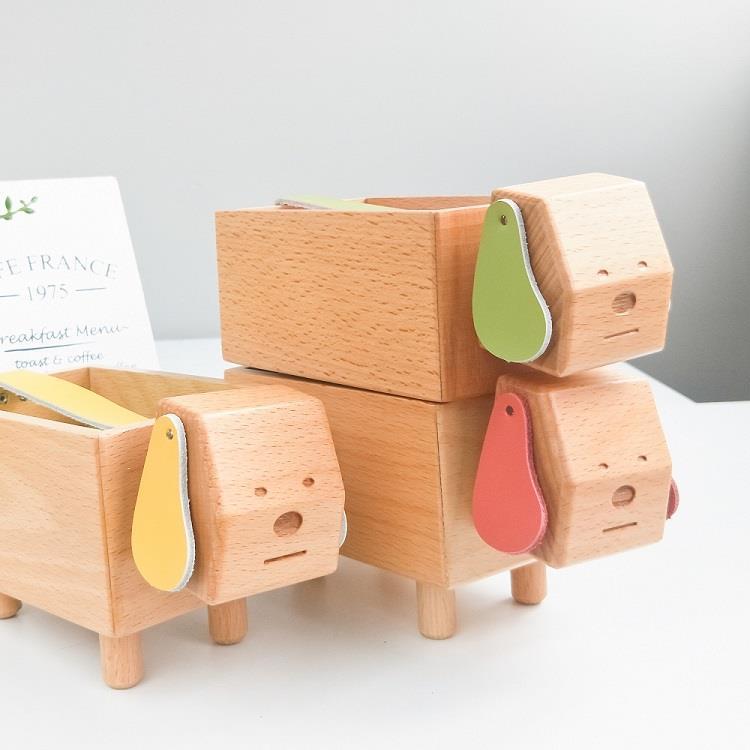 TOSMU 童心木 好運狗狗發票盒-芥黃色