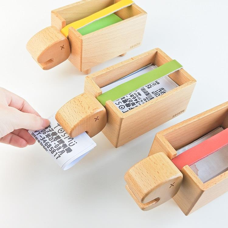 TOSMU 童心木 長頸龍發票盒-芥黃色