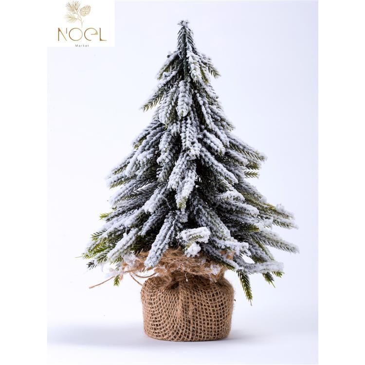 【NOEL諾也家飾】26公分小松樹-麻布款-聖誕節佈置/禮物首選