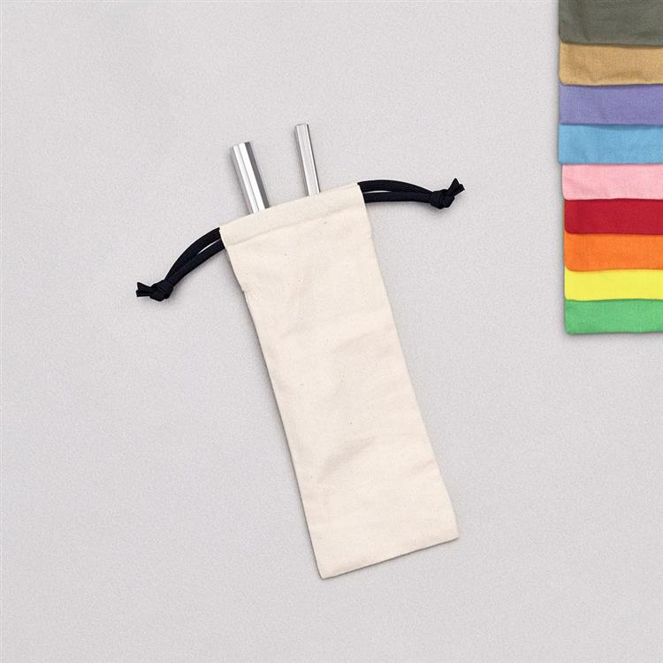 YCCT 環保吸管袋 環保餐具袋 收納袋 - 胚布色