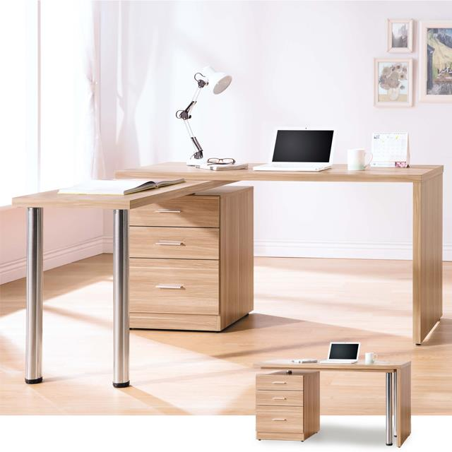 YoStyle 蘿瑪4.8尺旋轉功能桌-原木色