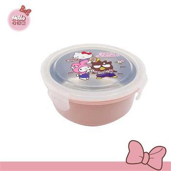 [Hello 生活館] Hello Kitty不鏽鋼隔熱碗-明星總動員(粉色款)  台灣製