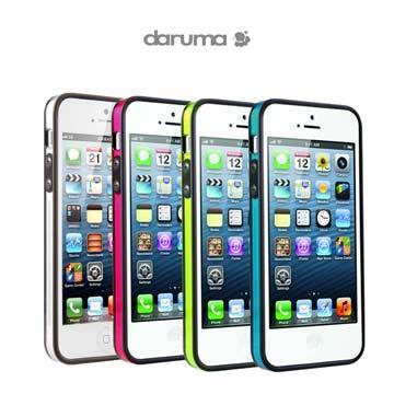 S-Clear iPhone5 晶透亮彩雙料成型保護框,含螢幕保護膜