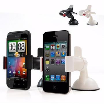 IP-MA6 智慧型手機專用 夾式吸盤車架