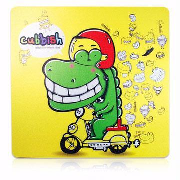 Cubbish 傻笑鱷魚光學鼠墊 - 黃
