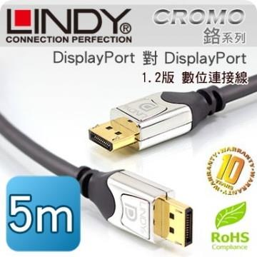 LINDY 林帝 DisplayPort公 對 DisplayPort公 1.2版 連接線 5m