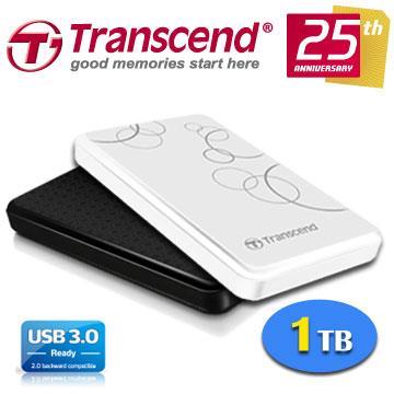 創見StoreJet 25A3 1TB USB3.0 2.5吋 超輕薄抗震行動硬碟