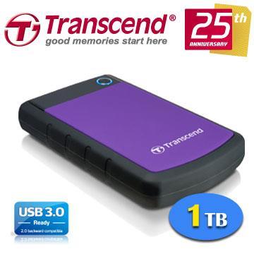 創見StoreJet 25H3P 1TB USB3.0 2.5吋 軍規級抗震行動硬碟