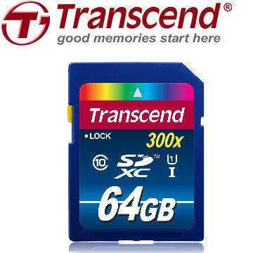 創見 SDXC 64G Class 10 UHS-I記憶卡(400x)
