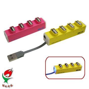 SEEHOT 嘻哈部落 Mini 4 Port USB 2.0 集線器