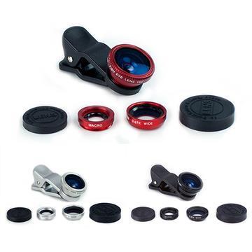 魚眼/廣角/微距 三合一通用型夾式鏡頭