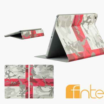 fnte FIFA世界盃迷彩國旗Apple iPad Air保護套-英格蘭