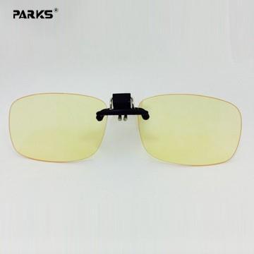 PARKS 濾藍光眼鏡蜘蛛俠夾片-- 中方淡黃