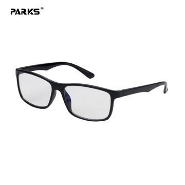 PARKS濾藍光眼鏡時尚雅痞系列-透霧黑
