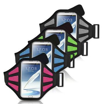 5.5吋智慧型手機用 運動網狀透氣手機臂帶