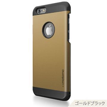 【日本motomo】iPhone6 4.7吋 INO Metal BR1金屬保護殼-金色