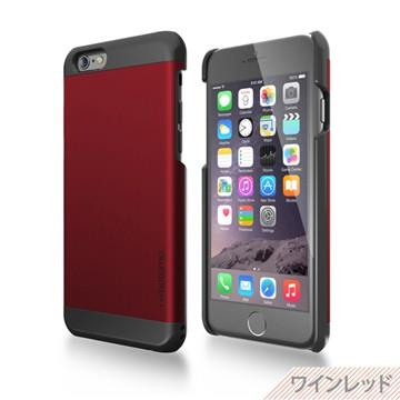 【日本motomo】iPhone6 4.7吋 INO Metal BR2金屬保護殼-酒紅色