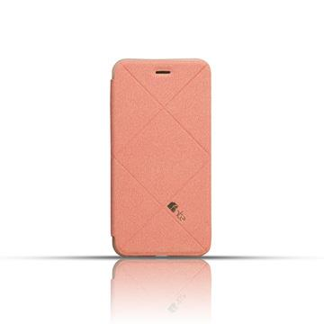 fnte iPhone 6 Plus 輕薄菱格皮套-櫻花粉