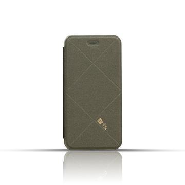 fnte iPhone 6 Plus 輕薄菱格皮套-檀石黑