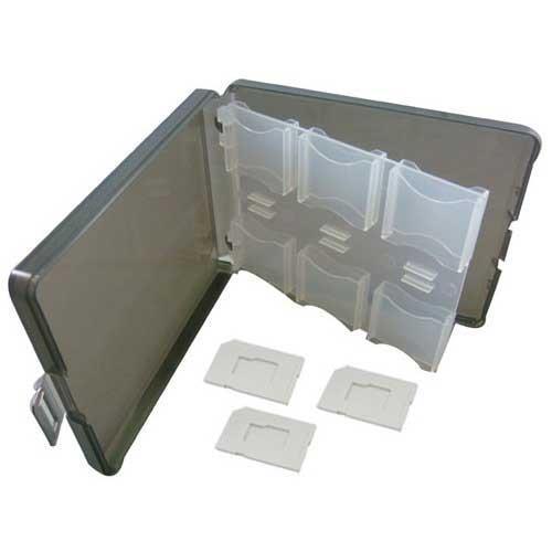 【2入組】12片裝記憶卡收納盒 T-Flash/microSD 專屬卡槽 x3