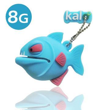 Kalo 卡樂創意 矽膠造型隨身碟 -3D食人魚-藍(8G)