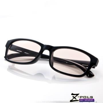抗藍光最佳利器! 熱銷設計質感黑(日韓復古款)MIT視鼎Z-POLS專業設計PC材質 抗藍光眼鏡